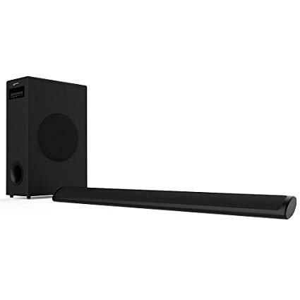 Sound Bar with Subwoofer, Meidong 2.1 Channel TV Soundbar System Bluetooth Wired and Wireless Home Theater(36.6 Inch/Bluetooth/OPT/RCA/AUX/Remote Control)